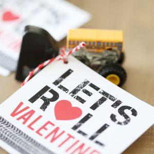 Valentine's Day: Monster Jam Car Printable Valentine for Kids