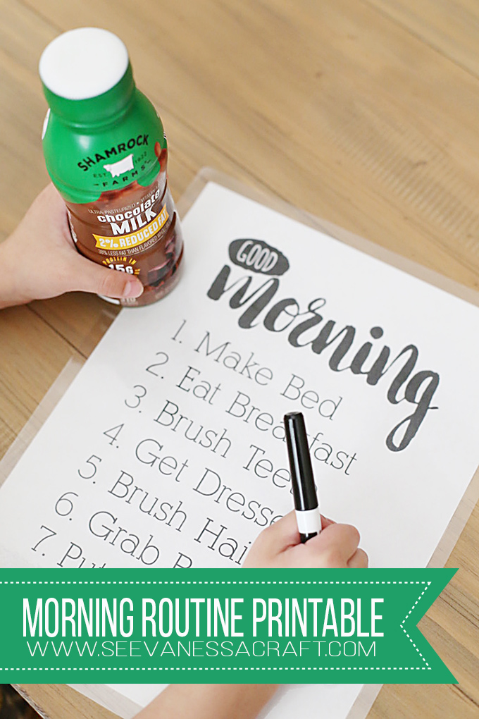 Kid Friendly: Morning Routine Chore Chart Printable - See