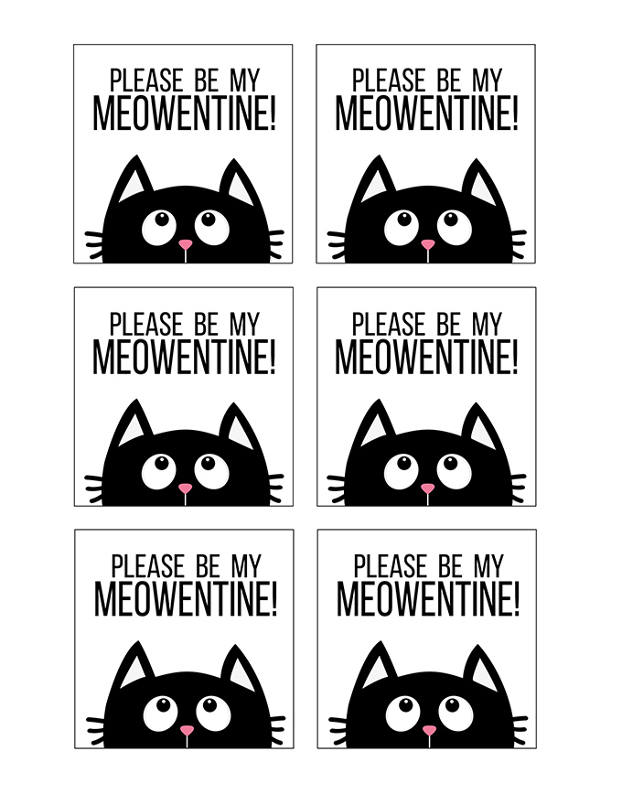 graphic relating to Printable Cat Pictures referred to as Cat Ear Headband Printable Valentine Tags for Children