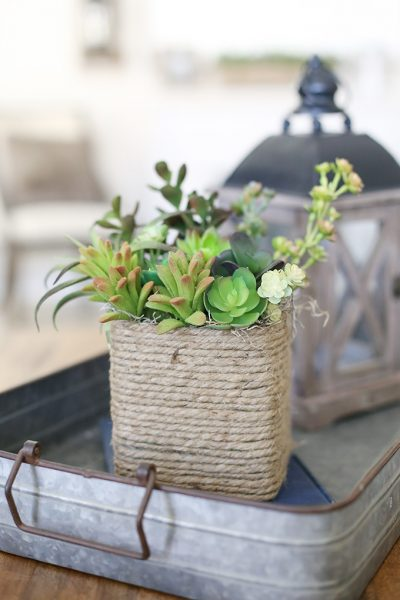 Upcycled Tissue Box Succulent Planter Craft Tutorial