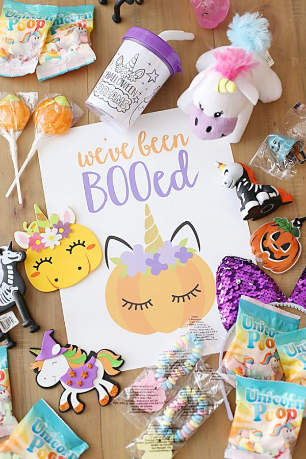 Halloween Unicorn You've Been BOOed FREE Printables