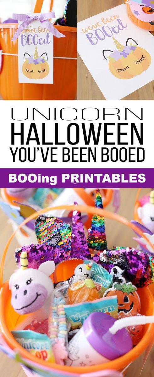 Halloween Unicorn Booing Printables