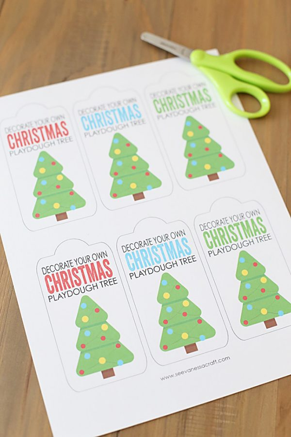 Decorate Your Own Playdough Christmas Tree Gift Idea