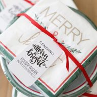 Holiday Gift of Dishes with Printable Tags