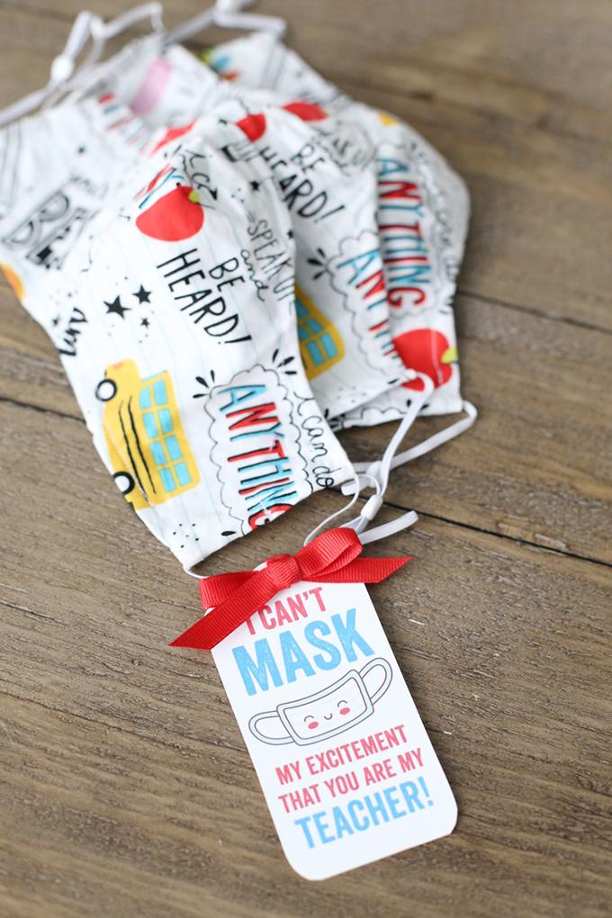 Free Printable Teacher Mask Gift Tags