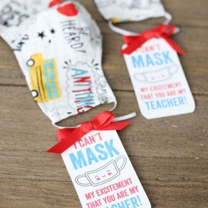 Free Printable Teacher Mask Gift Tags