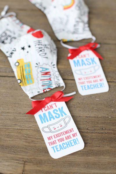 Free Printable Teacher Mask Gift Idea