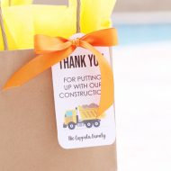 Free Printable Construction Gift Tags for Neighbors