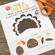 Free Printable Thanksgiving Turkey Dice Game for Kids