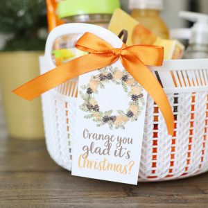Orange Themed Holiday Gift Idea