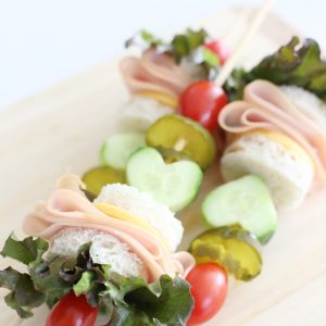Turkey and Cheddar Sandwich Kabobs