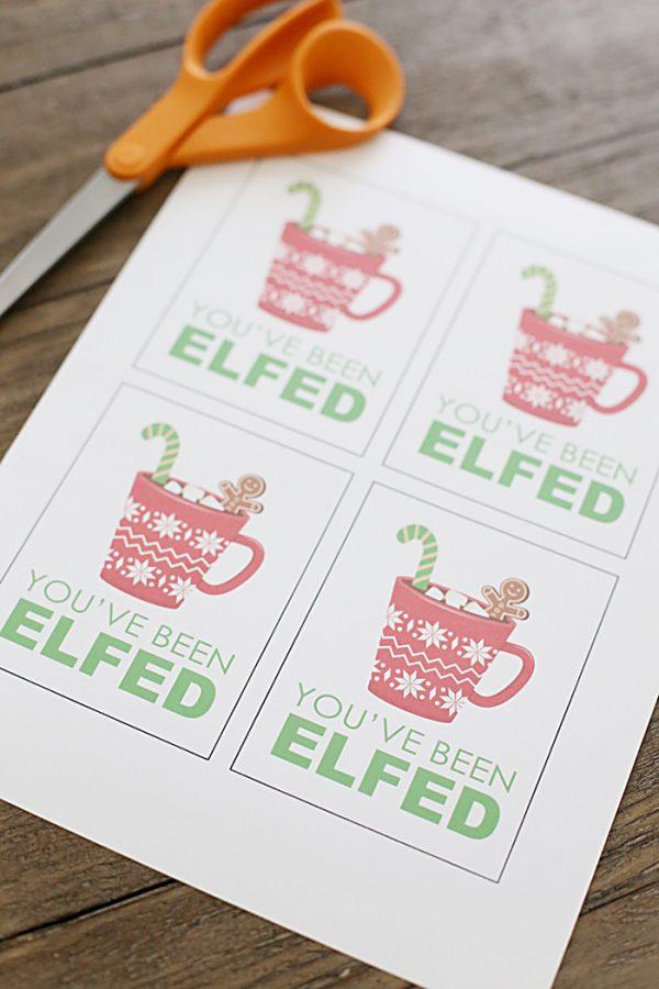 You've Been Elfed Christmas Printables