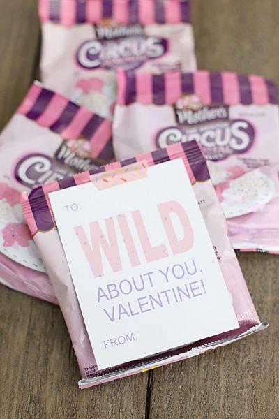 circus animal cookie valentine tags