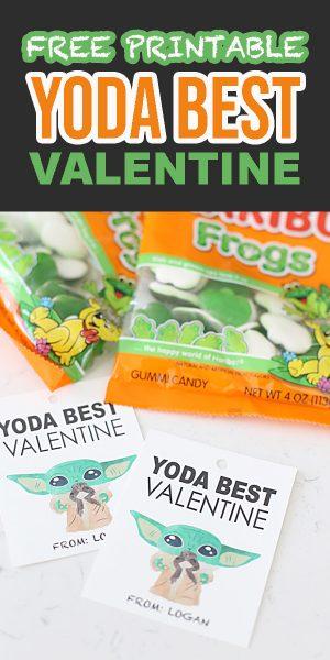 Free Printable Yoda Best Valentine Tags